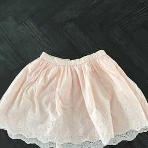 Gap Girld Baby Pink eyelet skirt!
